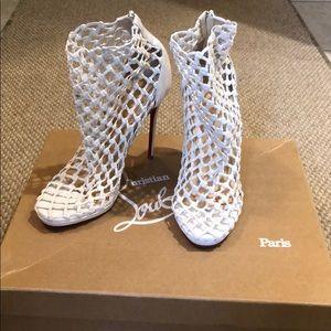 White Louboutin Booties